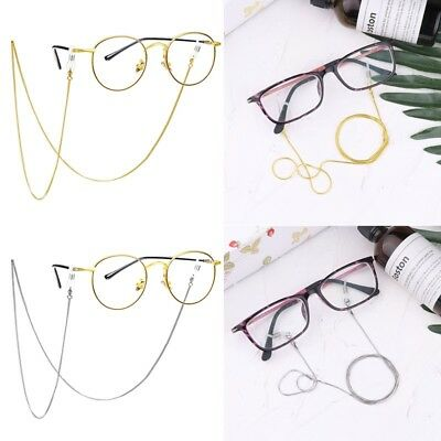 Eyeglass Reading Glasses Spectacles Eyewear Holder Neck Cord Metal Strap Chain