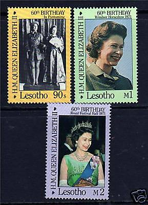 Lesotho Queens's 60th Birthday SG701/3 MNH