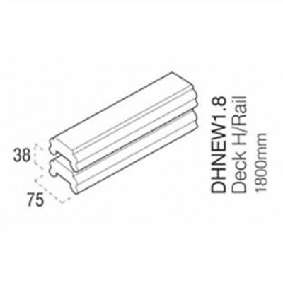 Cheshire Mouldings Decking Hand/base Rail, 1.8m