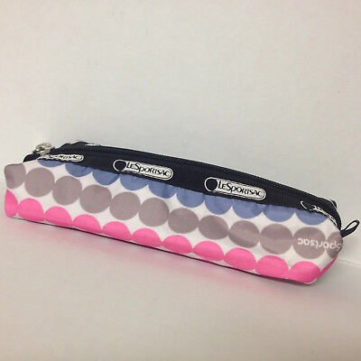 LeSportsac Pencil Case Dotted NEW Zip top Closure