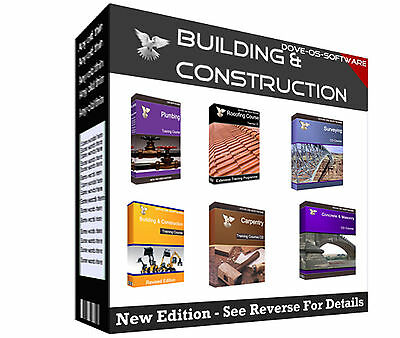 MULTIPACK Building Construction Carpentry Plumbing Surveying Roofing Book on CD