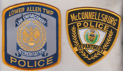McConnellsburg & Lower Allen Twp PA Police patches
