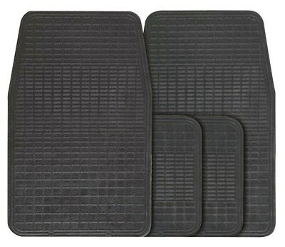 Streetwize BRMS Front Rear Car Floor Mat Set 4 Pieces Rubber Black Interior