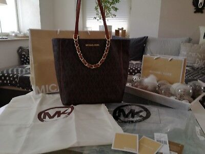 Details zu NP €329 ORIGINAL Michael Kors Newman City Bag IT