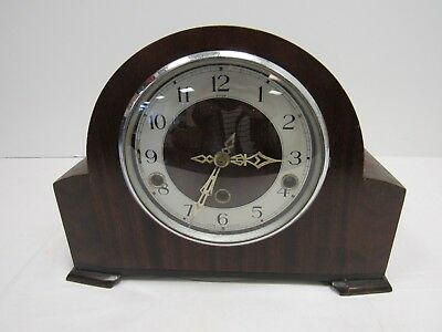 Antique Enfield Clock Co. Westminster Wood Mantle Chiming Clock 1930s - YEO S11