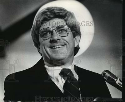 1978 Press Photo Phil Donahue spoke at the Wauykesha County Technical Institute