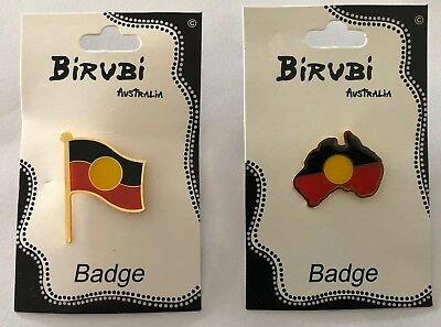 Aboriginal Flag Badge & Aboriginal Land Badge  2 x Lapel Badges
