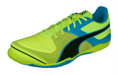 Mens Puma Leather Futsal Shoes Invicto Sala Soccer Trainers - Yellow - See  Sizes f91579429