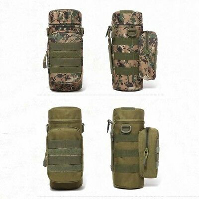 Outdoor Tactical Military Hiking Water Bottle Bag Pack Kettle Waist Pouch LG