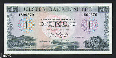 NORTHERN IRELAND  P-321.  Ulster Bank.. 1966 1 Pound.. UNC