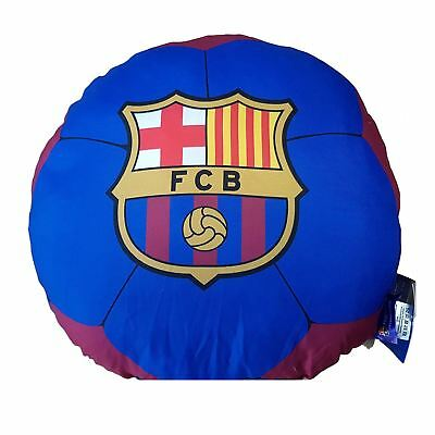 Fc Barcelona Football Shaped Filled Cushion Soft Kids Boys