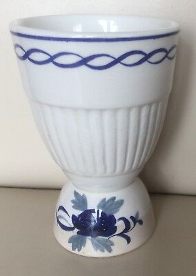 Vintage Blue/White Duck Egg Cup by Adams Micratex, Very Good Condition