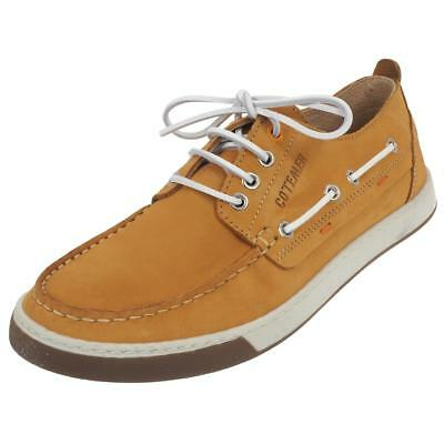 the best attitude 60ca8 4244e Chaussures basses cuir ou simili Cotemer Korentin ocre Marron 45088 - Neuf