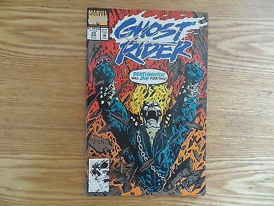 1992 Marvel Ghost Rider # 23 Deathwatch Signed Mark 'tex' Texeira Art, With Poa