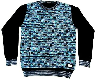 CARLO COLUCCI HERREN Rundhals Pullover All Over Jaquard
