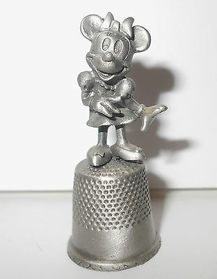 Disney Minnie Mouse Thimble Pewter Cartoon Character Collectible