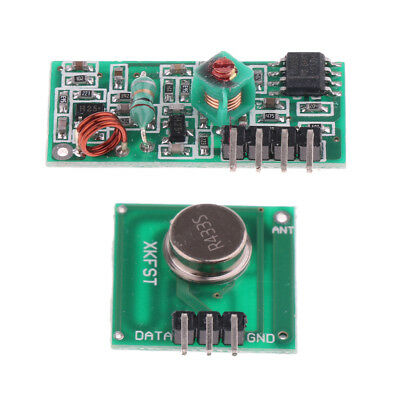 2x 2 Sets 433Mhz RF Transmitter And Receiver Kit For Arduino ZX