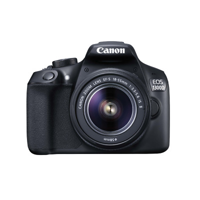 Canon 1160C066 EOS 1300D KIT - SLR Camera - 18 MP CMOS 18 mm-55 mm - Display: