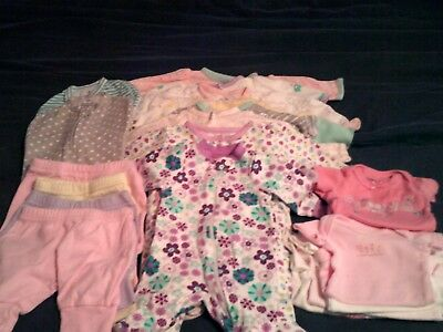 baby girl clothes 18pc lot size Preemie and Newborn