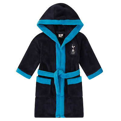 Tottenham Hotspur FC Official Football Boys Hooded Fleece Dressing Gown Robe