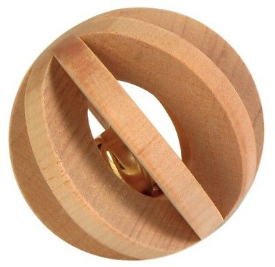 Trixie Wooden Slat Ball With Bell -  Small Pet Rabbit Guinea Pig Toy 6187