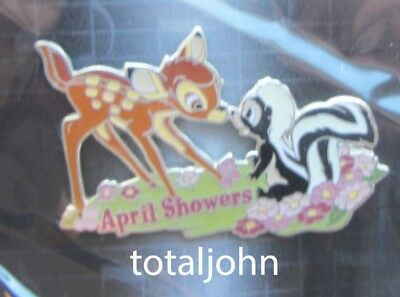 Disney Magical Musical Moments # 93 April Showers Bambi and Flower PIn