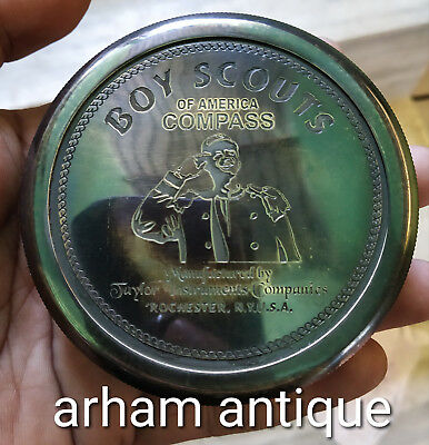 vintage Solid Brass BOY SCOUTS OF AMERICA COMPASS Marine gift