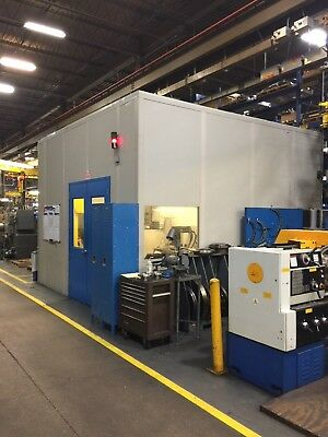 Modular 16' x 16' In-Plant Office Building Manufacturing Room Lighted 2 Doors
