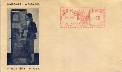 Dr Jim Stamps Us Mailomat First Day Of Use Metered Event Cover 1939 New York