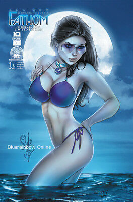 Aspen All New Fathom #1 Bluerainbow 'moonlight' Exclusive L/e 250 Ale Garza Nm