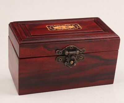 Red Wood Hand-Carved High-End Gift Jewelry Box Collection