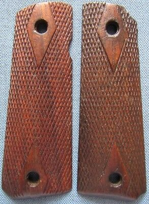 Original WWI period, used set of grips for Colt's M1911 .45 automatic pistol
