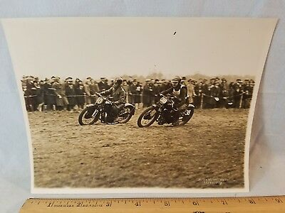 Orig 1931 Motorcycle Race Photo Kent Messenger England No.1 NO Reserve