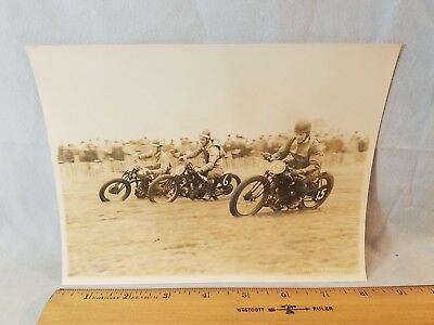 Orig 1931 Motorcycle Race Photo Kent England No. 4 NO Reserve