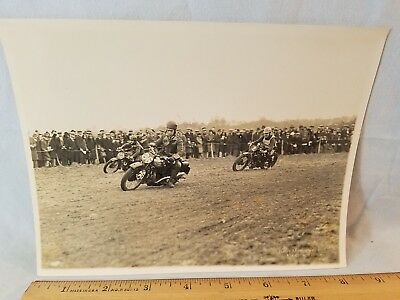 Orig 1931 Motorcycle Race Photo Kent England No. 5 NO Reserve