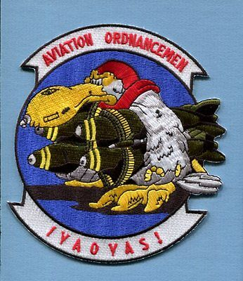 AVIATION ORDNANCEMEN AO RATE US NAVY USMC ORDNANCE Squadron Jacket Patch
