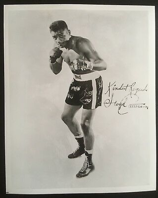 Nice Photograph Of The Great Heavyweight Champion Floyd Patterson In Pose!!