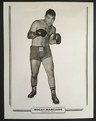 Nice Photograph Of The Legendary Heavyweight Champion Rocky Marciano In Pose!!