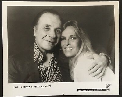 Lovely Portrait Photograph Of The Legendary Jake Lamotta And Wife Vikki!!