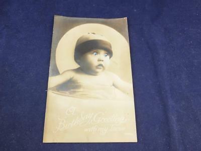 Vintage Novelty Postcard Moving Eyes A Birthday Greetings with my Love.