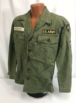 1947 US Army 83rd Infantry Division Patched Green Utility Shirt - Named