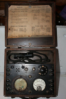 Vintage 1928 Weston Model 537 Radio Set Tester Tube Checker Rare Meter 301