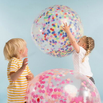 Lots 2.5cm Colorful Paper Balloon Filled Confetti Color Wedding Sprinkles Decor
