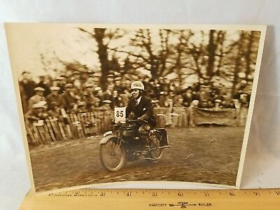 Orig 1931 Motorcycle Race Press Photo England No.15 Old Crocks Race NO Reserve