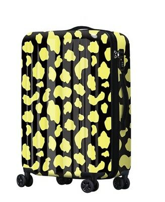 E423 Lock Universal Wheel Yellow Spot ABS+PC Travel Suitcase Luggage 24 Inches W