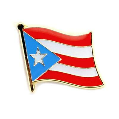 """PUERTO RICO FLAG LAPEL PIN 0.5"""" Puerto Rican Pinback Tie Hat Country NEW Small"""