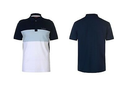 """**to Clear** Mens Pierre Cardin Contrast Polo Shirt Size 3Xl 50/52"""" Chest Bnwt"""