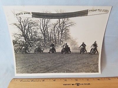 Orig 1931 Motorcycle Race Press Photo England No.23 8 At Start NO Reserve