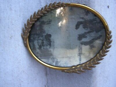 Antique Picture Frame Brass leaves on each side. Back of frame is solid brass.