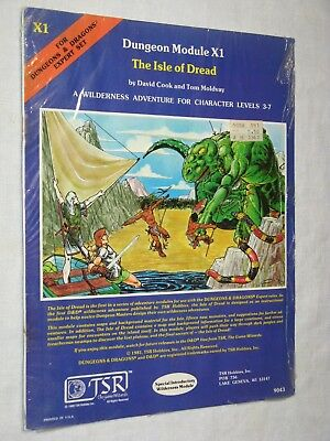 X1 The Isle of Dread SW Basic D&D 1st ed.AD&D TSR intro. wilderness module rpg